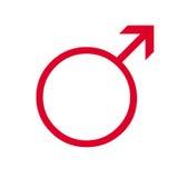 Symbole mâle humain Photo libre de droits