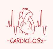 Symbole médical de la cardiologie Vecteur Photo libre de droits