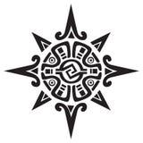 Symbole maya ou inca d'un soleil ou d'une étoile image libre de droits