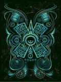 Symbole maya stylisé foncé - tatouage Photographie stock