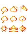 symbole meteo Fotografia Royalty Free