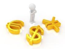 Symbole monétaire Image libre de droits