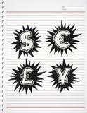 Symbole monétaire Image stock
