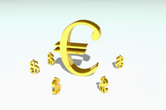 Symbole monétaire Photos stock