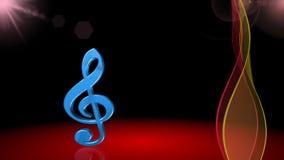 Symbole musical, clef, fond de chanson de ressort, animation illustration de vecteur