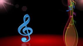 Symbole musical, clef, fond de chanson de ressort, animation illustration libre de droits