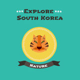 Symbole national coréen - illustration de vecteur de tigre Image stock