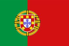 Symbole national de drapeau du Portugal illustration stock