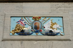 Symbole naval royal de chantier de construction navale, Bermudes Images stock