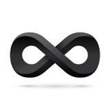 Symbole noir d'infini Icône conceptuelle Images libres de droits