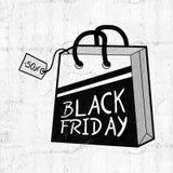 Symbole noir de vendredi Images libres de droits