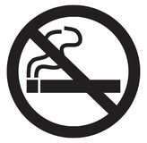 Symbole non-fumeurs Photographie stock