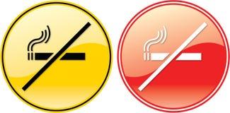 Symbole non-fumeurs de signe d'étiquette Images stock