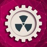 Symbole nucléaire de danger illustration de vecteur