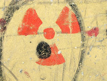 Symbole nucléaire de rayonnement de danger Images libres de droits