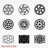 Symbole objectif de signe de vecteur d'icône de caméra pour la conception illustration stock
