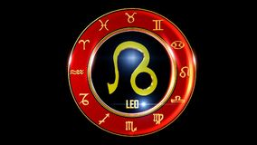 Symbole occidental de zodiaque de Lion banque de vidéos