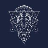 Symbole occulte mystique Image libre de droits