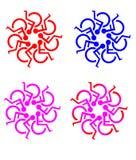 symbole okrągły osób niepełnosprawnych Zdjęcie Royalty Free