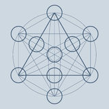 Symbole ou élément sacré de la géométrie Photographie stock