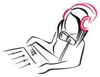 Symbole par radio Image stock