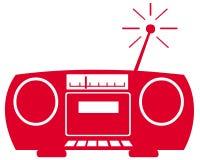 Symbole par radio Image libre de droits