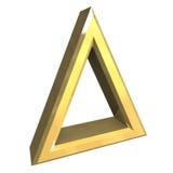 Symbole permis par blanchiment en or - 3D illustration de vecteur