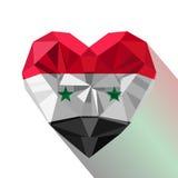 Symbole plat de logo de style de l'amour Syrie illustration libre de droits