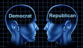 Symbole politique de démocrate et de voix républicaine Photo stock