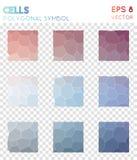 Symbole polygonal de Th illustration stock