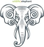 Symbole principal d'éléphant Photos libres de droits