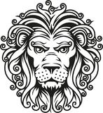 Symbole principal de lion Photo stock