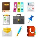 symbole przedsiębiorstw ustawione wektora HR ikony set ilustracji