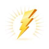 Symbole puissant d'éclairage Images libres de droits