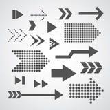 Symbole réglé de flèche Photo libre de droits