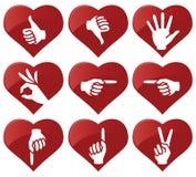 symbole rąk Fotografia Stock