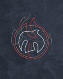 Symbole religieux de Saint-Esprit illustration de vecteur