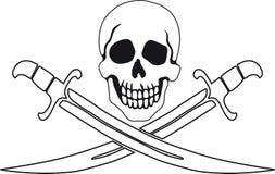 Symbole Roger gai de pirate illustration libre de droits