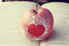 Symbole Romance de coeur de pomme Photo libre de droits
