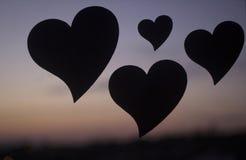 Symbole romantique de coeurs d'amour Image libre de droits