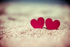 symbole romantique de deux coeurs Image libre de droits