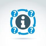 Symbole rond de consultation, icône de l'information, Photo libre de droits