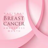 Symbole rose de ruban pour le mois national de conscience de cancer du sein dedans illustration stock