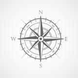 Symbole rose de vecteur de boussole de vent Photos stock