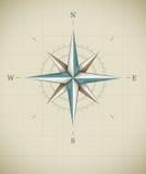 Symbole rose de vent antique pour la navigation illustration de vecteur