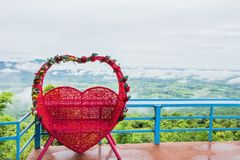 Symbole rouge d'amour de coeur Image stock