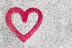 Symbole rouge de coeur Image libre de droits