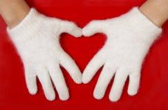 Symbole rouge de coeur Photo libre de droits