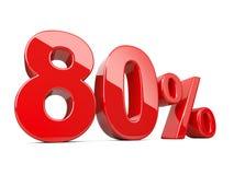 Symbole rouge de quatre-vingts pour cent taux de pourcentage de 80% Di d'offre spéciale Images stock