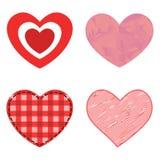 Symbole rouge de Saint Valentin d'amour d'icône de vecteur de coeur de style de Differents et épouser romantique de conception be Image libre de droits
